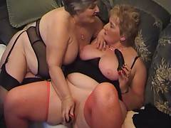 Hot lesbian sex continues as Libby fucks Julias wet pussy hole with the big pink dildo making Julia reach a terrific orgasm  Libby rubs her fingers in Julias cum and lets Julia suck them clean  Julia then returns the favour by fucking Libby with a big bla