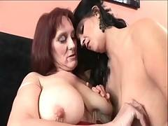 These sexy grannies are masturbating their pussies