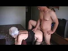 89 year old marge loves the feel of a bareback cock inside her