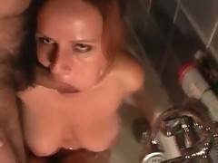 Hot water and glass of wine caused our horny feeling My Master fucked my face roughly and wanted me to lick his balls whole jerking his cock off I sucked his cock and took it between my boobs and gave him the best pleasure I can