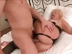 Tough Young Stud Drills Slutty Granny 1