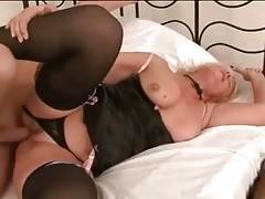 Tough Young Stud Drills Slutty Granny 3