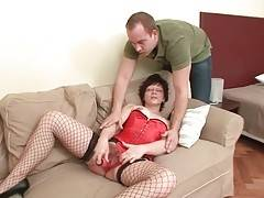 Aged Brunette Toys Her Hairy Pussy 2