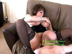 Im on my back with Geordie Boy silent while hes licking me out  I take a turn and suck him off so hes nice and hard to fuck me  Claire xx